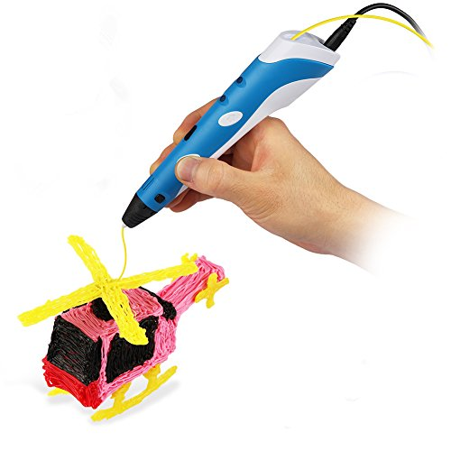 Soyan 3D Printing Pen for Doodling, Prototyping Design and Art Making, Easy to Use, 3D Pen for Beginners (Blue) by Soyan (Image #1)