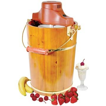 AMERIHOME ICM6C 6-Quart Old Fashion Ice Cream Maker