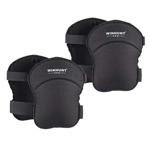 2ペア オックスフォード布構築膝パッド 耐久性 調整可能 フォームパッド 安全