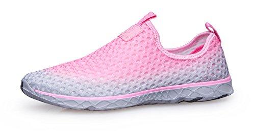 Schnell trocknende Aqua-Wasser-Schuhe der Zhuanglin Frauen Rosa 035