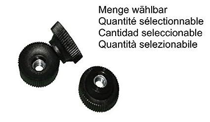 Rä ndelmutter M6 Kunststoff, Stahlgewinde verzinkt, Rä ndelmuttern MENGE wä hlbar, Menge:1 STÜ CK FKAnhängerteile