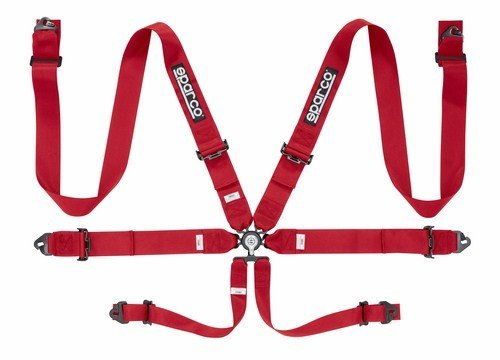 Sparco 04818racrs Harness in 6Points, Red