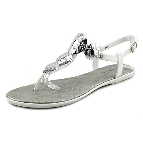 Bandolino Loocho Women Us 5.5 Sandalo Infradito Bianco