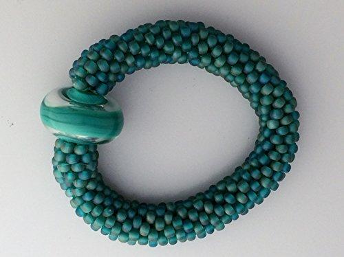 Moss Bead Crochet Bracelet (Moss Sheep)
