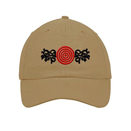 Speedy Pros Cotton 6 Panel Low Profile Hat Archery Target Bull Eye Embroidery By (Bullseye Khaki)