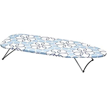 Household Essentials 122101 Small Tabletop Ironing Board With Folding Legs    Magic Rings Cover And Pad