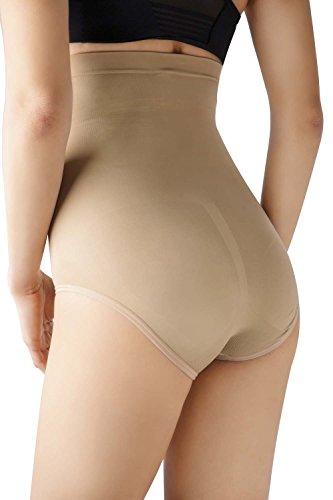 MD Frauen Nahtlose Shapewear hoch Taille Bauch Kontrolle Hose Bauch und Bottom Body Shaper
