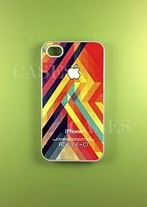Colorful Geometric Iphone 4 Case, Iphone 4s Cases - Best Stylish pretty Uniqu...