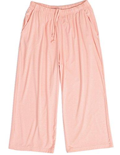 HONG HUI Women Pajama Capri Pants Soft Sleep Lounge Pants with Pockets Sleepwear
