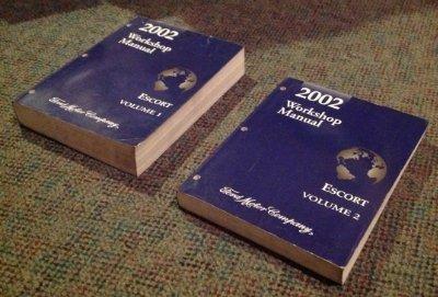 2002 Ford Escort Workshop Manuals (2 Volume Set)