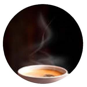alfombrilla de ratón una taza de café caliente - ronda - 20cm