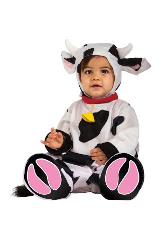 sc 1 st  Funtober & Rubieu0027s Costume Cuddly Jungle Mr. Moo Cow Romper Costume - Funtober