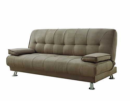 Amazon.com: Convertible Sofa Bed with Removable Armrests Tan ...