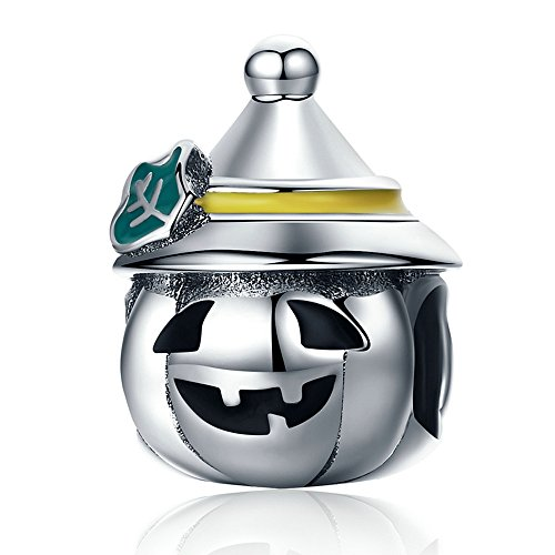 - Everbling Halloween Pumpkin 925 Sterling Silver Bead Fits European Charm Bracelet