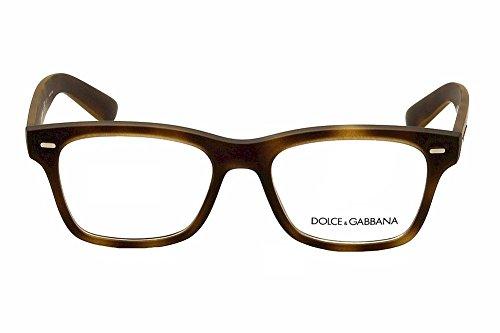... 52mm Dolce   Gabbana Montures de lunettes 5014 Pour Homme  Semi-Transparent Black Rubber, 52mm 4e4afa0f25a4