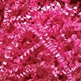 ABC Deluxe Crinkle Cut Paper Shreds, Pink Filler for Boxes Gift Baskets, 10 lb.