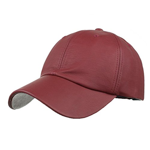 Women Letter Hat Wool Knitted Wine Red - 5