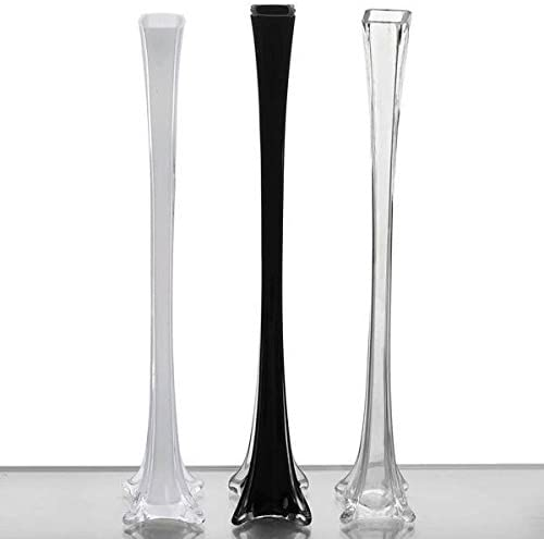 Efavormart 24 Eiffel Tower Wedding Glass Vases for Wedding Party Banquet Events Centerpiece Decoration Flower Vase -6 PCS-Clear