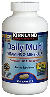 Kirkland Signature Daily Multi Vitamins and Minerals, 500 Tablets