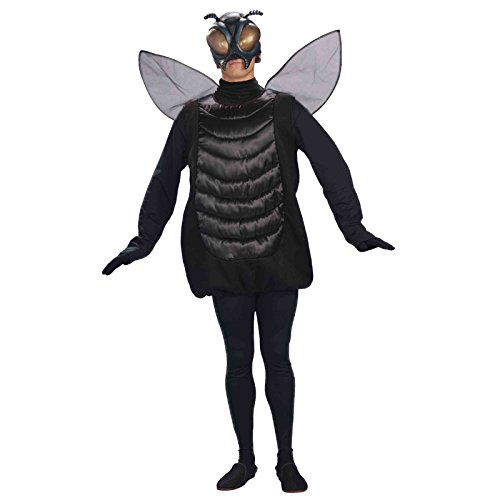 Forum Novelties Men's Creepy Fly Adult Costume and Mask, Black, Standard -