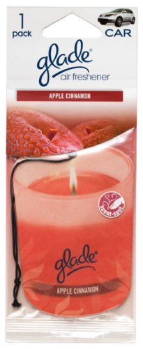 Glade Paper Candle Hanging Car and Home Air Freshener, Apple Cinnamon Scent (Scent Single Pack)