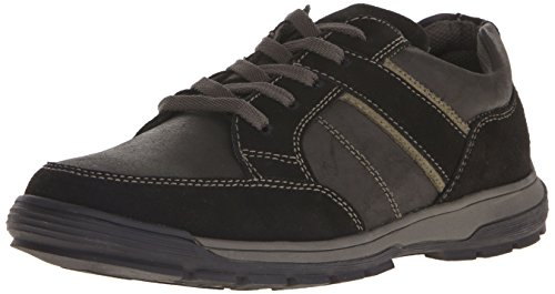 Nunn Bush Mens Layton Moc Toe Sport Oxford Carboncino