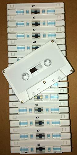 25pk. - C-47 NRS HIGH ENERGY 47min. Cassettes-Blank Bulk, Normal Bias -