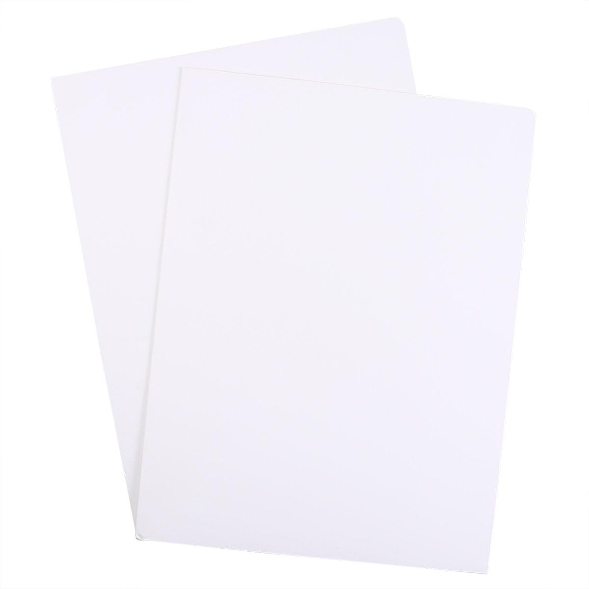 carta kraft con 2/tasche ufficio Project file cartella di presentazione A4 Nero Toymytoy 12PCS tasca cartella portadocumenti formato A4