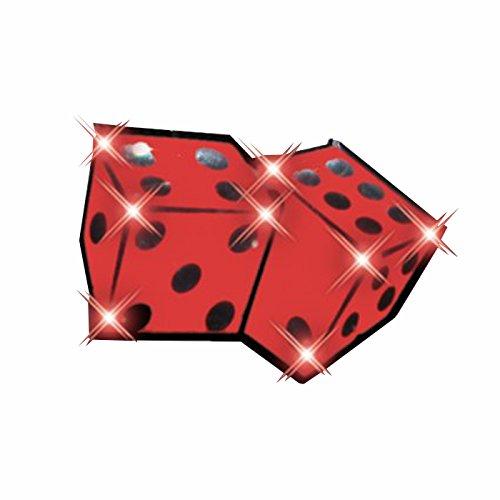 Dice Flashing Body Light Lapel Pins by (Casino Pin)