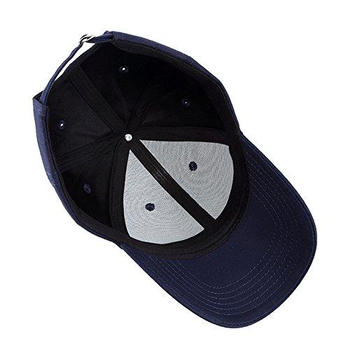 Béisbol de Primavera Azul Verano Ajustable Hombres Gorra Mujeres Número Bordado Sombrero Sombreros Estilo Vintage Z0nfWA6x