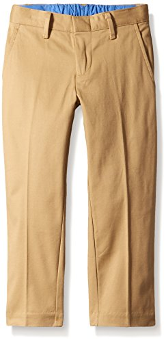 Boys Dress Twill Pant (Scout + Ro Boys' Twill Pant, Medium Khaki,)