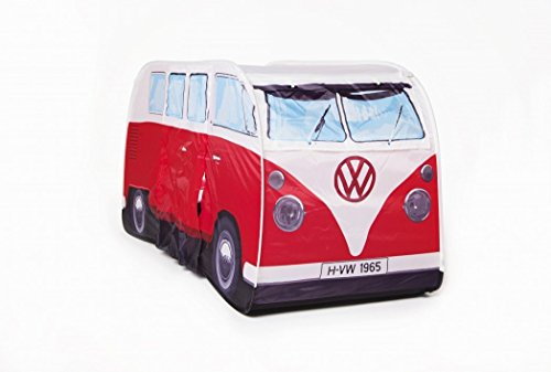 Campers Tent - VW Volkswagen T1 Camper Van Kids Pop-Up Play Tent - Red - Multiple Color Options Available