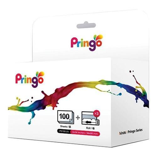 HiTi PS-100 100-Sheets 2x3.4'' Media for Pringo P231 WiFi Dye-Sub Portable Photo Printer