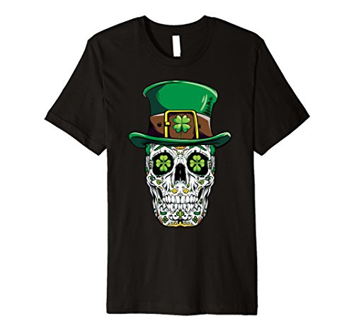 Sugar Skull Leprechaun T Shirt St Patricks Day Women Men Tee