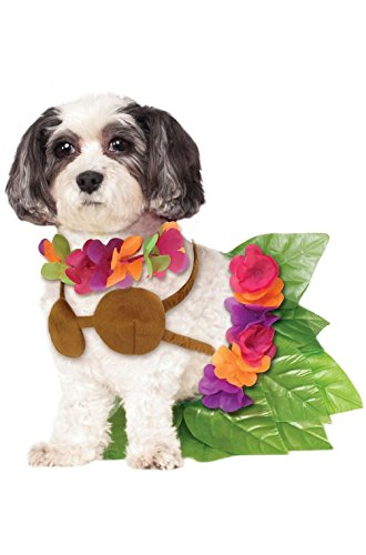 Dog Hula Costume (Fashion Hawaiian Luau Dancers Hula Girl Pet Dog Costume New)