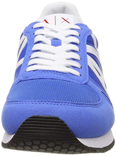 Up Sneaker white Da Basse Blu Logo Lace blue Armani 00984 Exchange With Uomo Ginnastica Scarpe tE0qORw