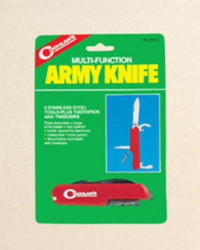 Coghlan's Folding Multi-Tool Army Knife, 5-Function