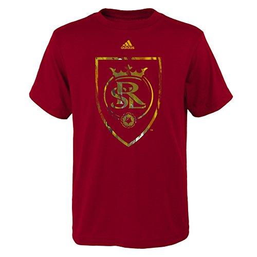 Outerstuff MLS Real Salt Lake Boys -War Paint Logo Short Sleeve Tee, Crimson Red, X-Large (18)