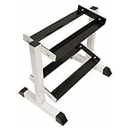 USA Sports by Troy Barbell 2-Tier Compact Dumbbell Rack