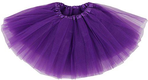 Dance Costumes Tweens (Simplicity Little Girls Layered Tulle Tutu Princess Ballet Skirt, Purple)