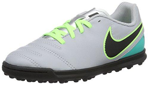 Nike Jr Tiempox Rio Iii Tf, Botas de Fútbol para Niños Gris (Wolf Grey / Black-Clear Jade)