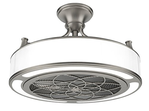Stiles Anderson CF0110 Indoor/Outdoor Brushed Nickel Ceiling Fan 22 in ()