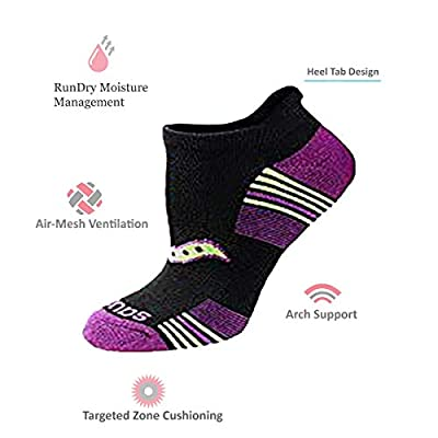 Saucony Women's 8-Pair Performance No-Show Sport Socks at Women's Clothing store