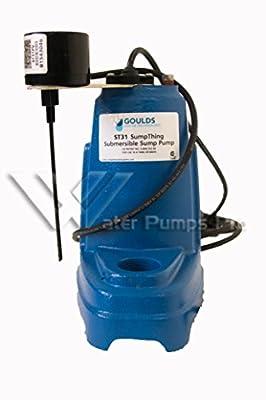 Goulds ST31PV Submersible Sump Effluent Pump 1/3HP 115V Piggy Back Vertical Switch