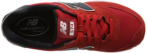 New Balance Herren Ml574cna Sneaker Red/Black