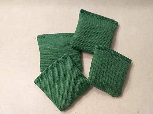 4 Grass Green Mini Cornhole Bags Set of 4 Mini Toss