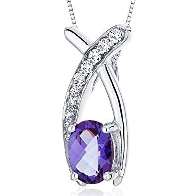 Revoni alexandrite pendant necklace sterling silver 100 carats revoni alexandrite pendant necklace sterling silver 100 carats aloadofball Choice Image