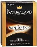 Trojan Naturalamb Natural Skin Lubricated Luxury Condoms - 3 ct, Pack of 4