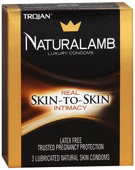 Trojan Naturalamb Natural Skin Lubricated Luxury Condoms - 3 ct, Pack of 2
