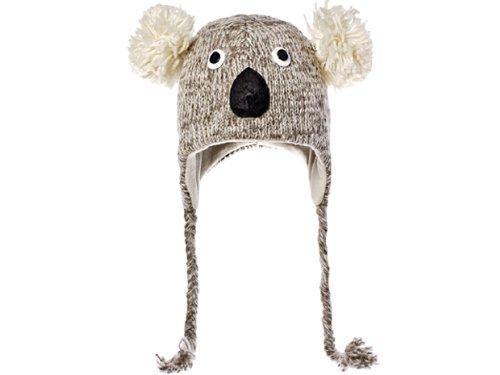 Monde Animal-Kirby le Koala en tricot Bonnet péruvien pour enfant Gris 4f3d1e2e343